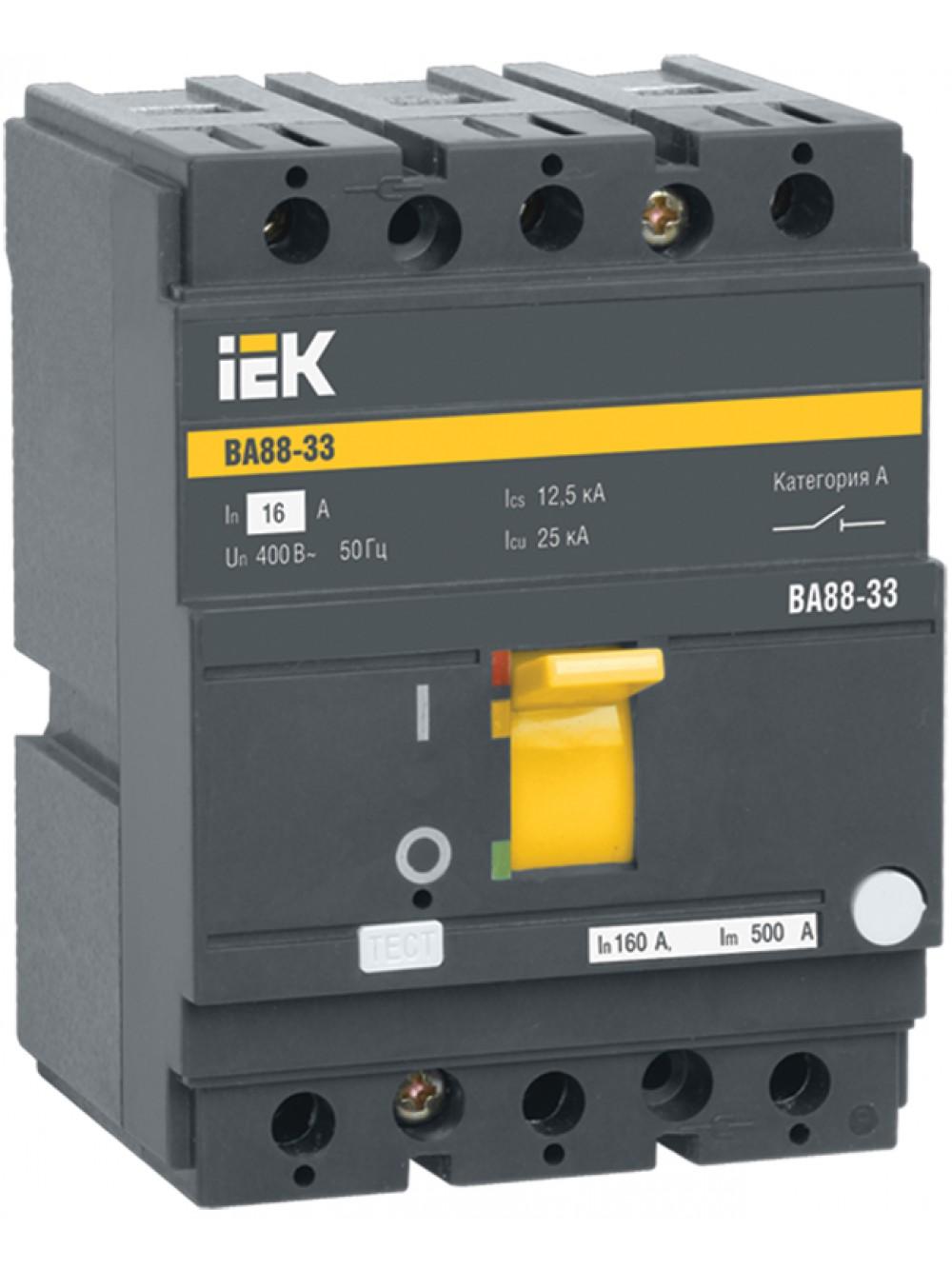 Выключатели автоматические 3п 125-160А ВА 88-33 ИЭК