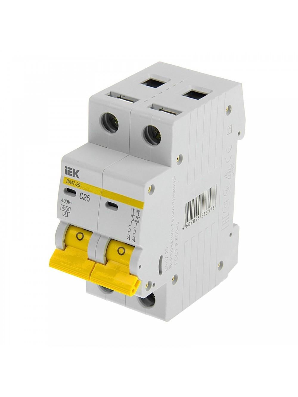 Автоматические выключатели 2-п C 16-40А ВА 47-29 4.5кА ИЭК