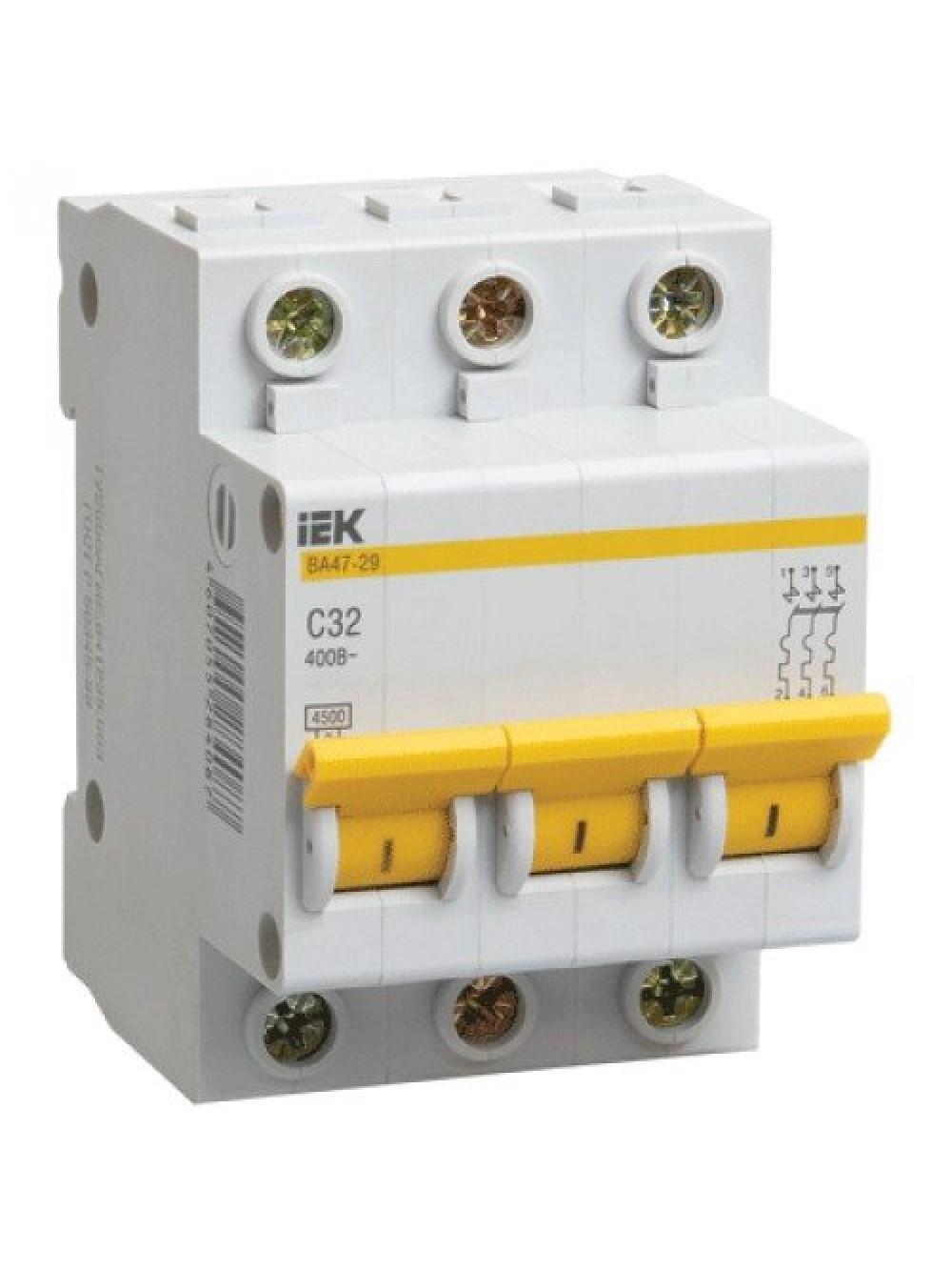 Модульные выключатели 3п C 16-50А ВА 47-29 4.5кА