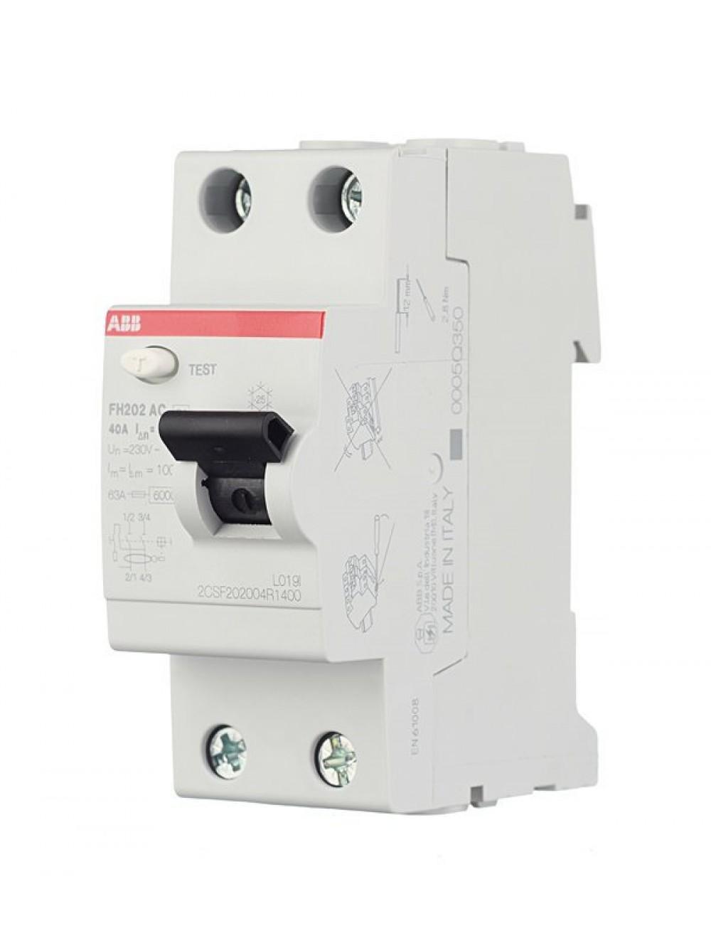 Выключатель дифференциального тока FH202 и FH204