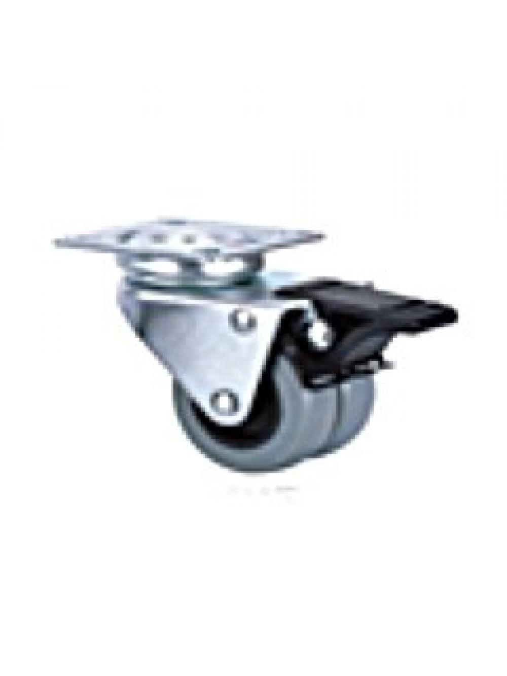 Ролик 2-х колесный аппаратный поворотный с тормозом