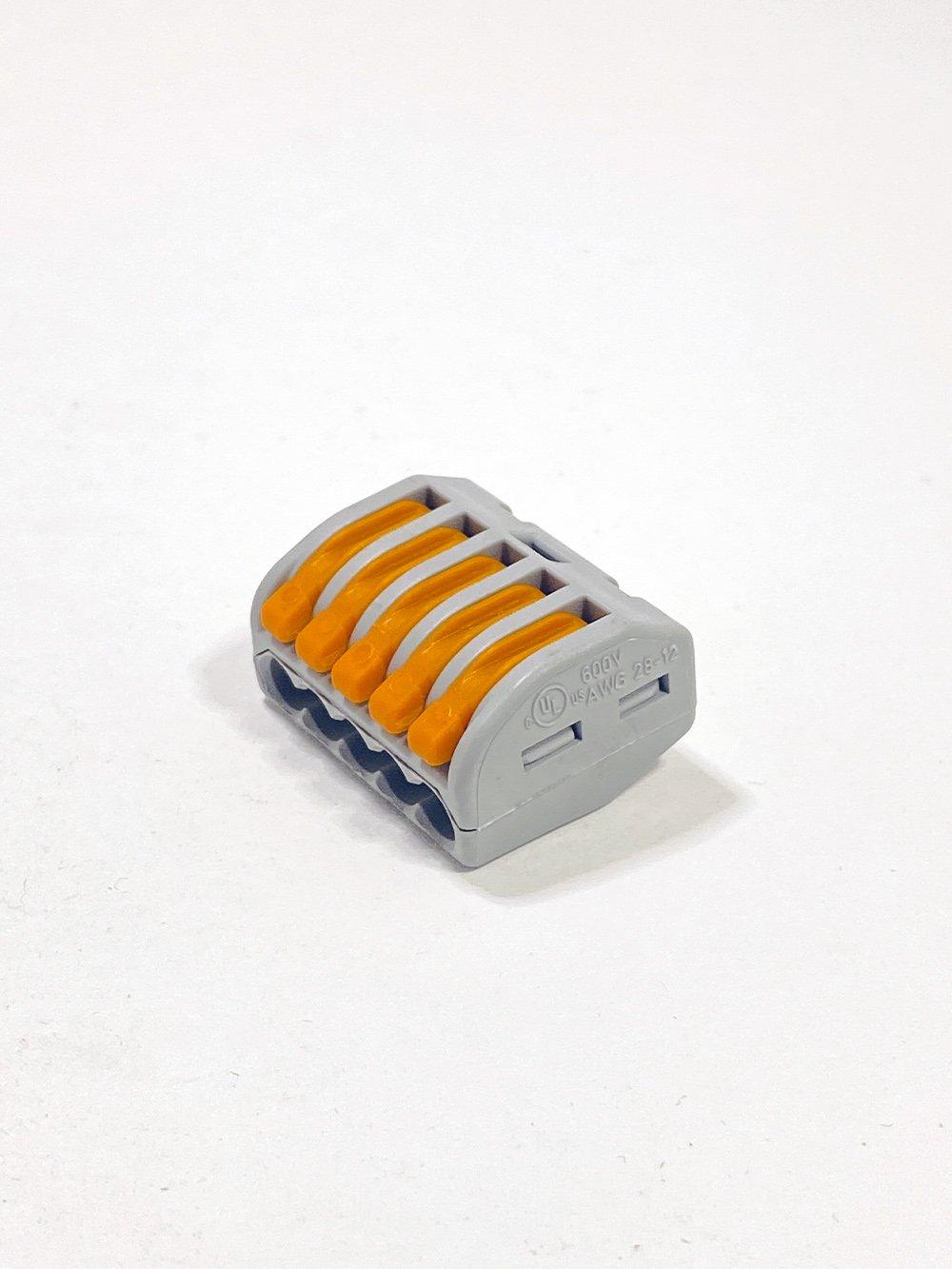 Клеммник WAGO 5-й (0.08-2.5мм) флажковый