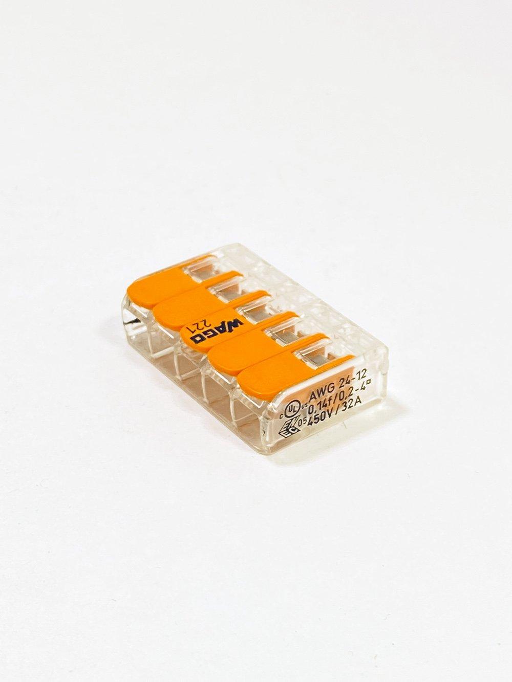 Клеммник WAGO 5-й (0.14-4.0мм) флажковый