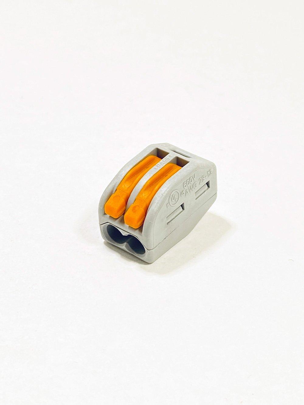 Клеммник WAGO 2-й (0,08-2,5 мм) флажковый